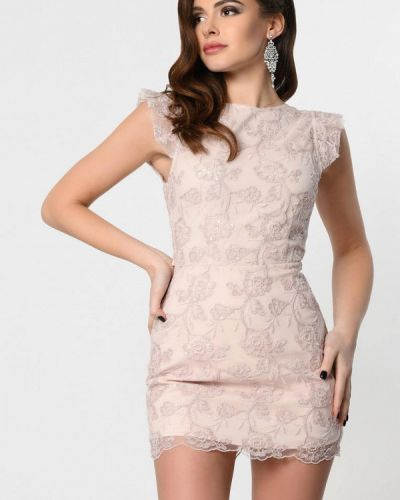Розовое вечернее платье Carica&x-woyz