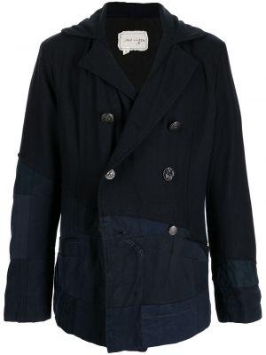 Синий шерстяной пиджак Greg Lauren