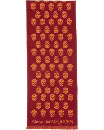 Pomarańczowy szalik wełniany Alexander Mcqueen