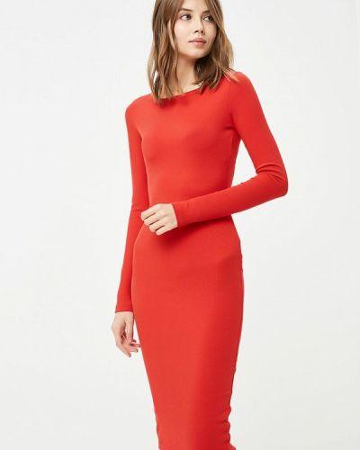 Платье красный осеннее Ribbon