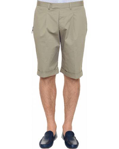 Хлопковые шорты - бежевые Corneliani