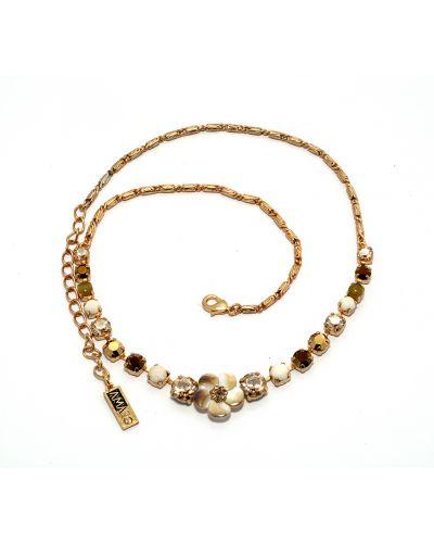 Ожерелье белый желтый Amaro