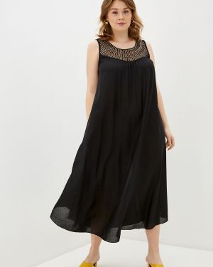 Пляжное черное платье Ulla Popken