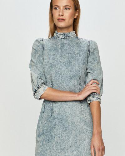 Хлопковое облегающее джинсовое платье с короткими рукавами Tally Weijl