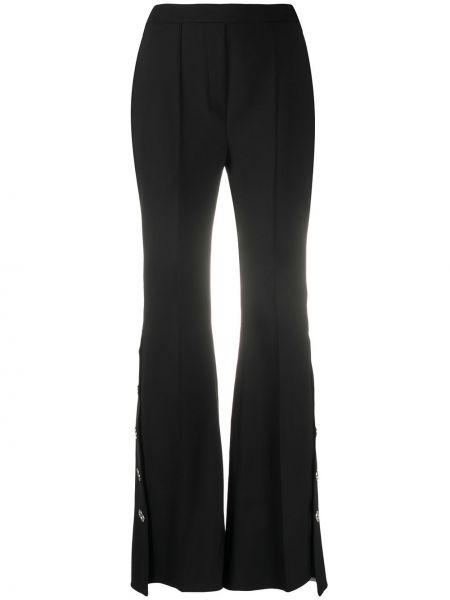 Czarne spodnie bawełniane asymetryczne Ellery