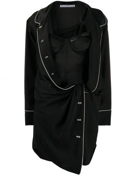Платье с чашками черное Alexander Wang
