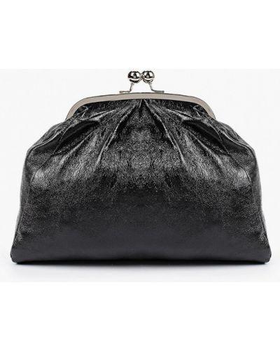 Черный клатч из натуральной кожи Giulia Monti