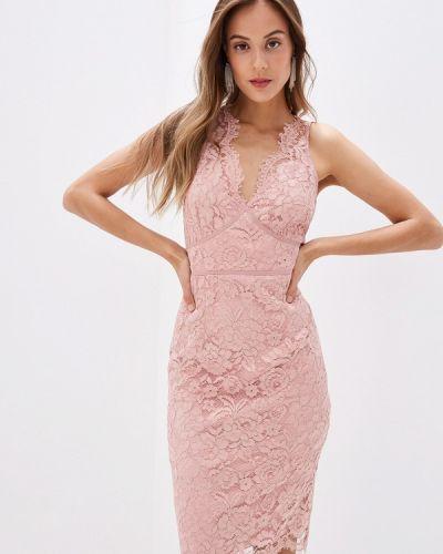 Вечернее платье осеннее розовое Little Mistress