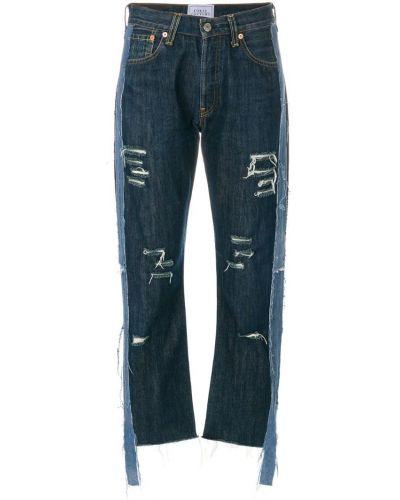 Укороченные джинсы синие Forte Couture