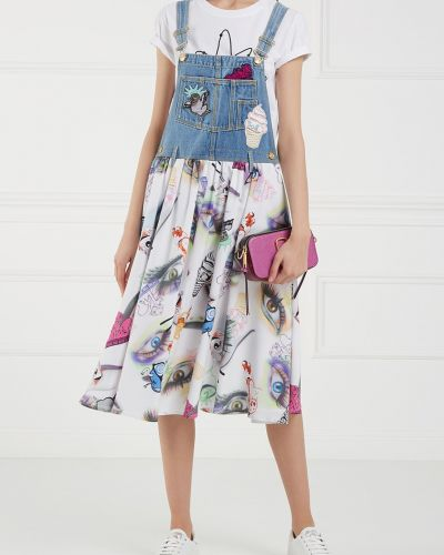 Джинсовое платье со складками платье-сарафан Kenzo