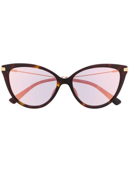 Прямые солнцезащитные очки металлические хаки Moschino Eyewear