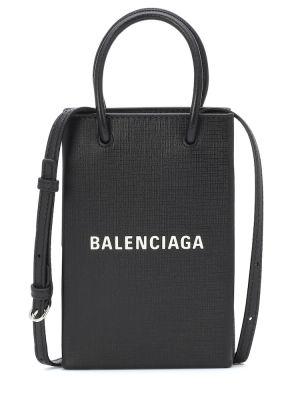 Черная сумка шоппер с камнями Balenciaga