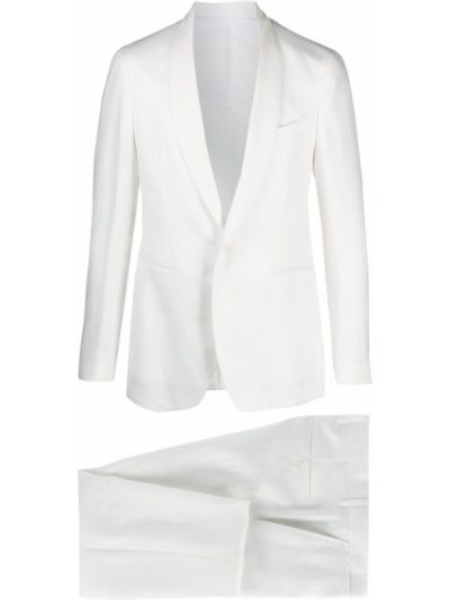 Biały garnitur z paskiem z długimi rękawami Tagliatore