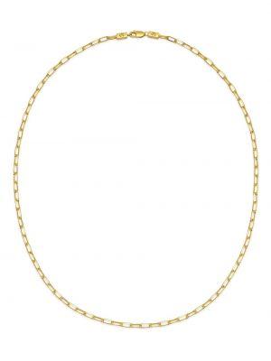 Złoty naszyjnik łańcuch pozłacany Northskull