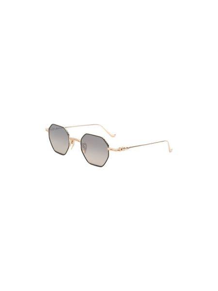 Серые солнцезащитные очки металлические узкого кроя Chrome Hearts