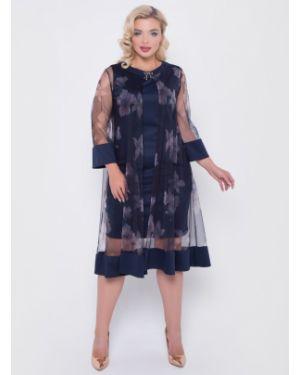 Платье футляр с цветочным принтом тм леди агата