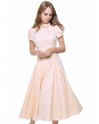 Бежевое платье весеннее Marichuell