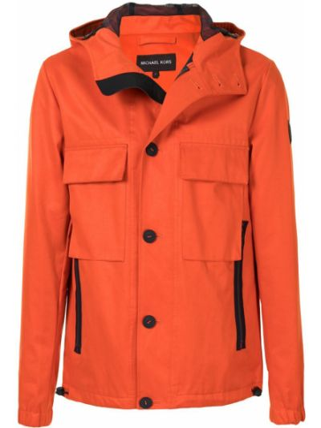 Оранжевая куртка с капюшоном на молнии Michael Kors