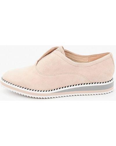 Велюровые розовые ботинки Pazolini