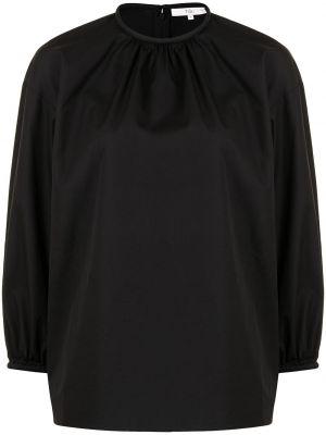 Черная блузка на молнии Tibi