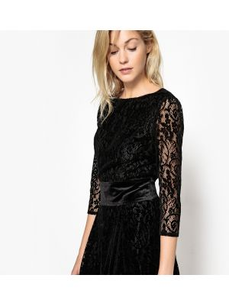 Платье мини миди с поясом La Redoute Collections