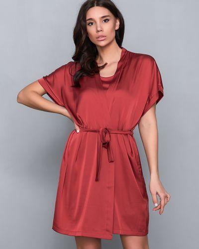 Пижамный хлопковый красный халат Barwa Garments