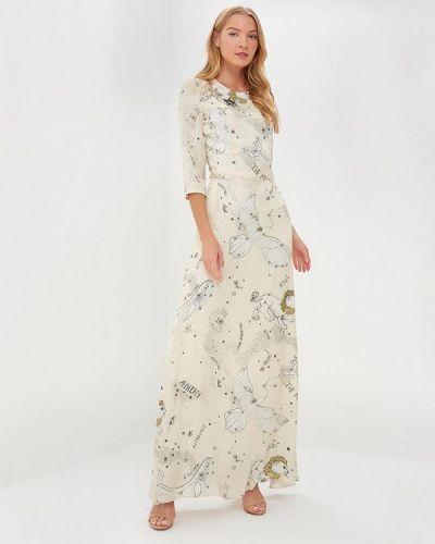 Вечернее платье осеннее бежевое Ksenia Knyazeva
