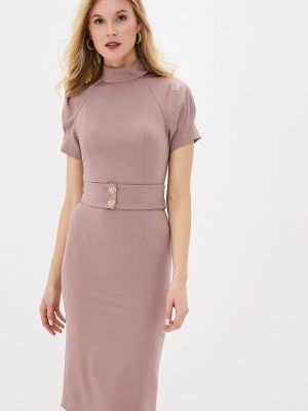 Платье розовое прямое Ruxara