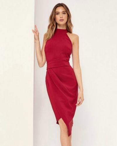 Платье - бордовое Lipsy