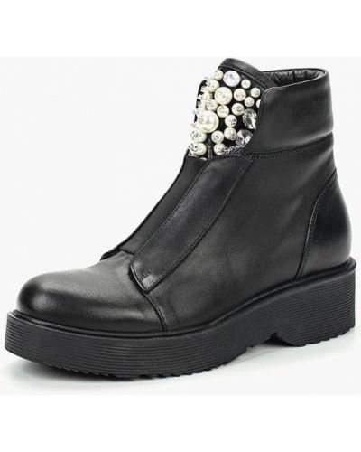Кожаные ботинки осенние черные Ilvi