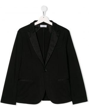 Пиджак черный длинный Paolo Pecora Kids