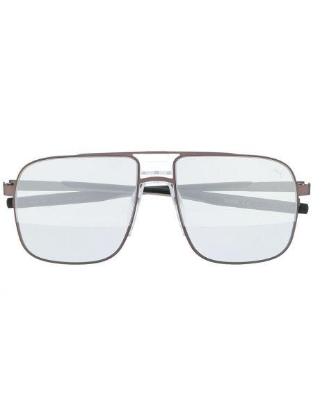 Прямые черные солнцезащитные очки металлические Puma