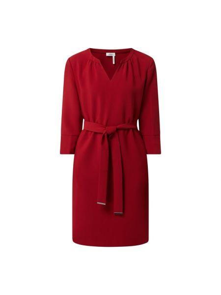 Sukienka rozkloszowana z paskiem - czarna S.oliver Black Label