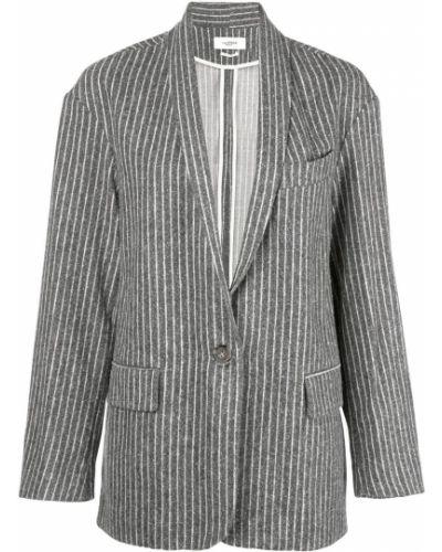 Удлиненный пиджак с карманами с воротником Isabel Marant étoile