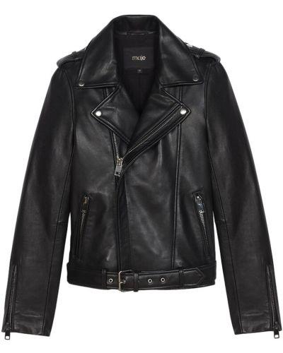 Кожаная куртка - черная Maje