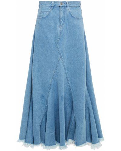Długa spódnica bawełniana - niebieska Marques Almeida