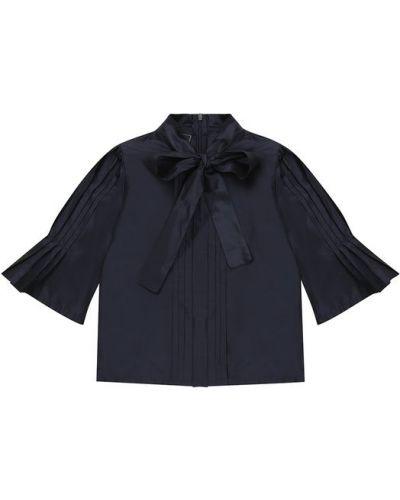 Блузка шелковая в рубчик Oscar De La Renta