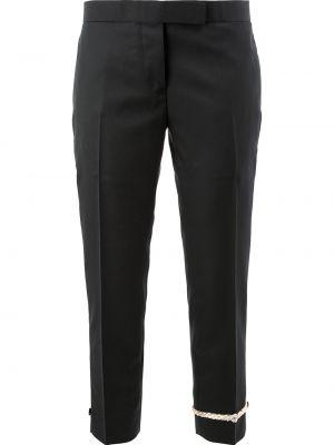 Укороченные брюки - черные Thom Browne