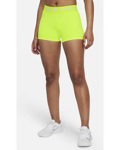Желтые шорты Nike