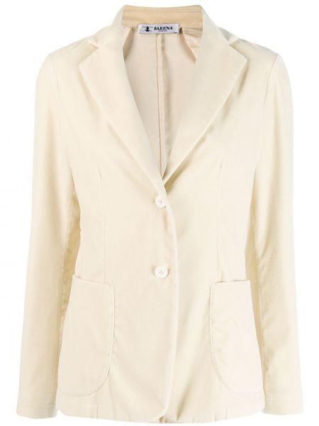 Классический пиджак бежевый в полоску Barena