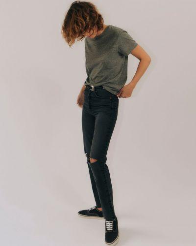 Czarny jeansy z kieszeniami Re/done