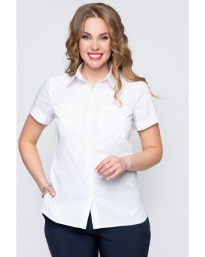 Деловая приталенная блузка с кокеткой на пуговицах Diolche