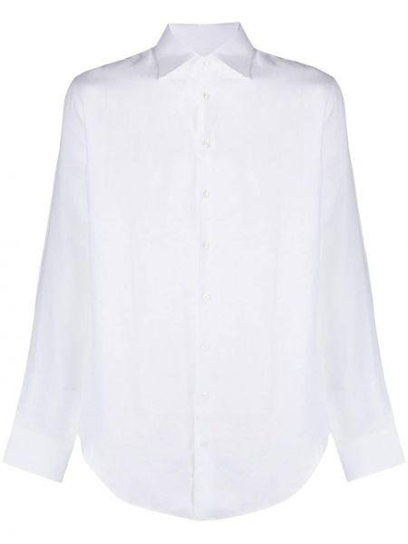 С рукавами белая рубашка с воротником Giorgio Armani
