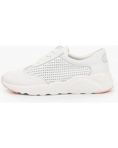 Кожаные белые кроссовки Shoiberg