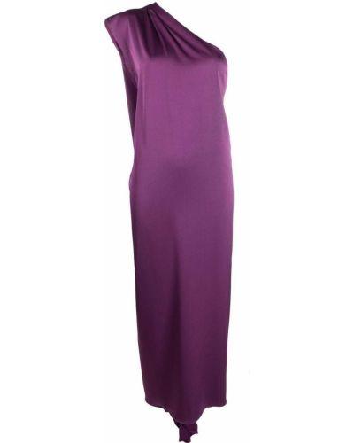Fioletowa sukienka midi asymetryczna Racil