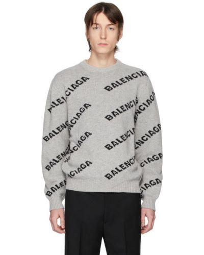 Sweter włosy wielbłąda z kołnierzem Balenciaga