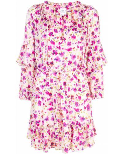 Платье макси розовое с цветочным принтом Misa Los Angeles