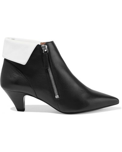 Czarne ankle boots skorzane w szpic Tabitha Simmons