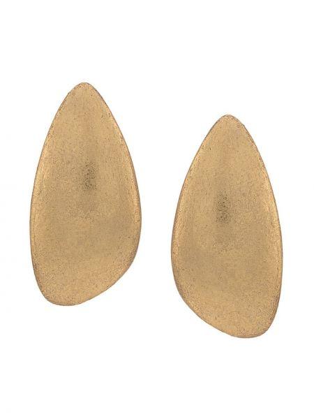 Złote kolczyki sztyfty Monies