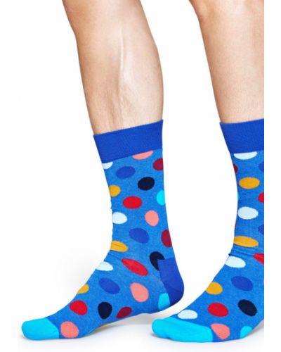 Синие колготки с узором Happy Socks